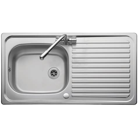single bowl kitchen sink with drainer leisure sinks linear single bowl and drainer 950mm x 508mm