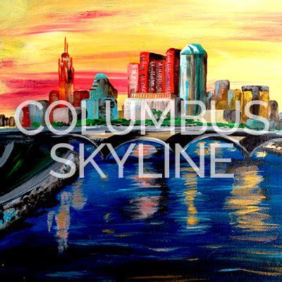 paint nite columbus april 27th 2017 columbus skyline canvas painting