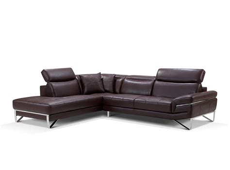 modern leather sofas and sectionals modern brown leather sectional sofa ef194 leather sectionals