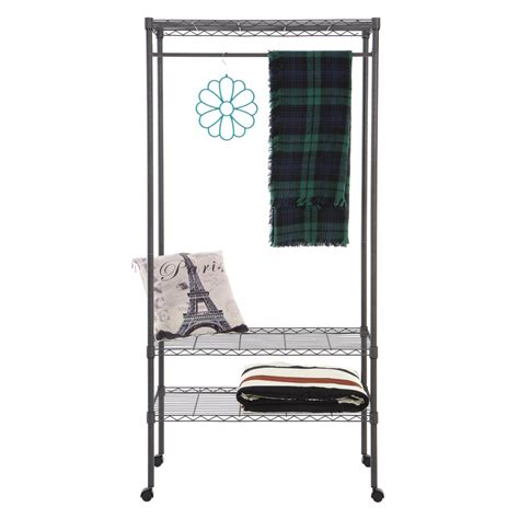 clothes rack with shelves home storage rack movable clothes rack garment rack with