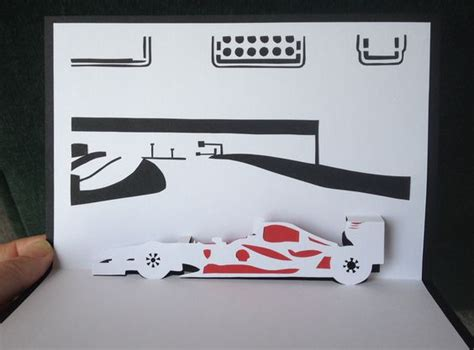 how to make a car card race cars cars and cards on