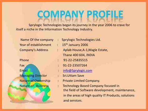 8 information technology company profile sample company