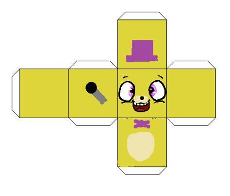 paper cube craft fredbear cube papercraft by kero1395 on deviantart