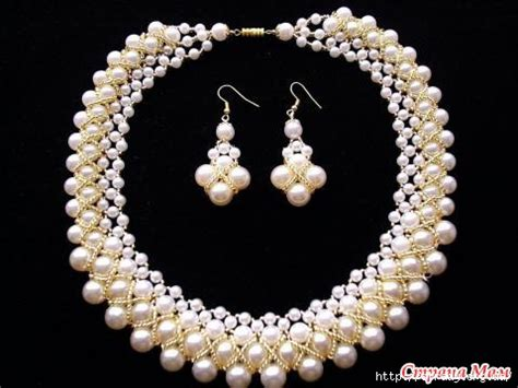 beaded jewelry tutorials lovely beaded pearl necklace tutorials the beading gem s