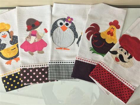 patchwork pano de prato 10 panos de prato em patchwork bordado barrado tecido