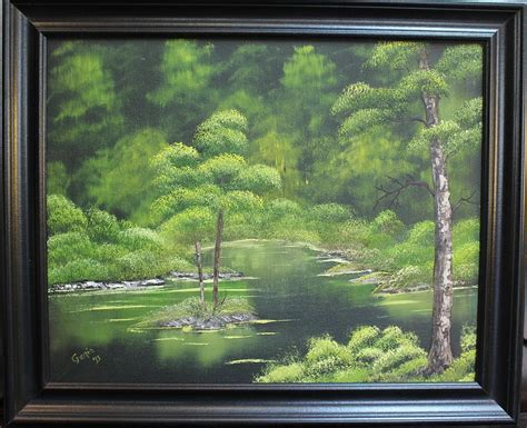 spray paint emerald forest emerald forest painting by genia wright