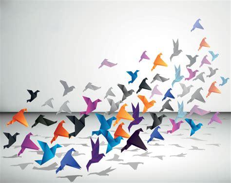 origami of birds origami flying birds vector free free vector archive