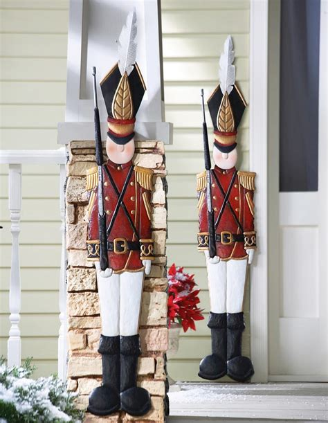large soldier decoration metal tin soldier coat outdoor wall