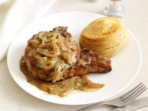 smothered chops smothered pork chops recipe food network kitchen food