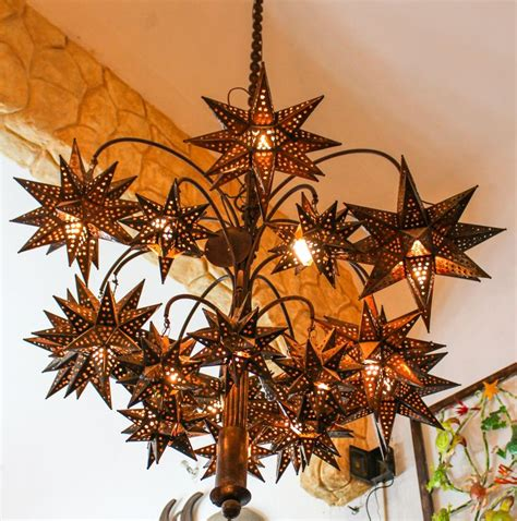 mexican chandelier chandelier el callejon tin and glass