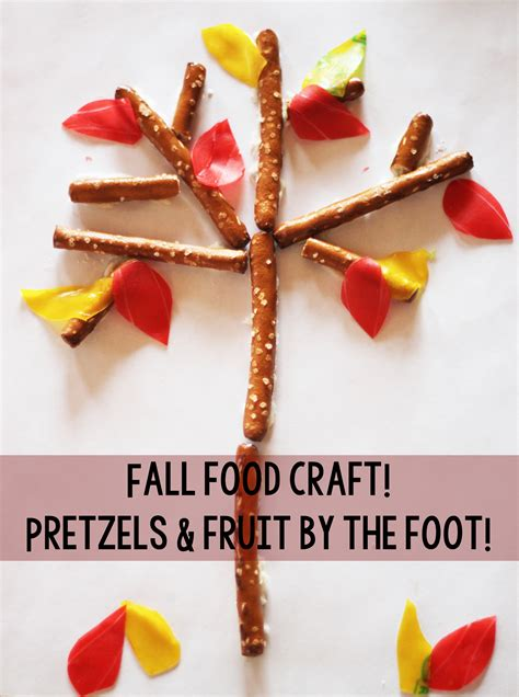 fall food crafts for fall or classroom craft