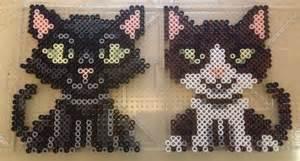 perler bead cat cat perler bead patterns perler hama beading
