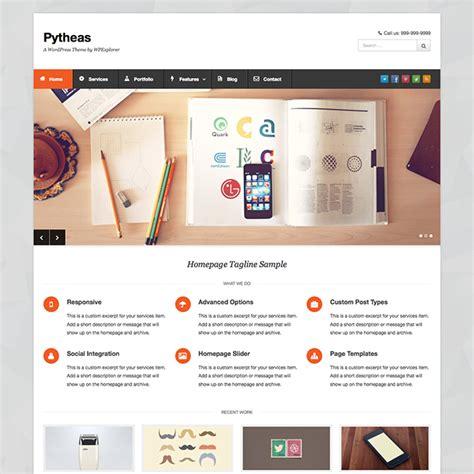 pytheas free responsive corporate portfolio wordpress