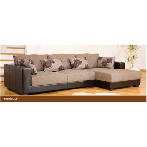 desert fabric and leather brown beige corner sofa