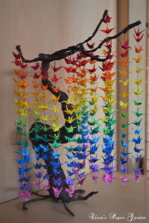 color paper crafts ideas guide on how to create a colorful rainbow diy crane