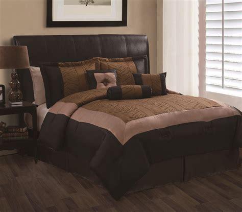 black and brown comforter sets 7pc oliver brown and black jacquard comforter set