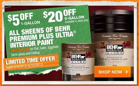 home depot paint sale home depot behr paint