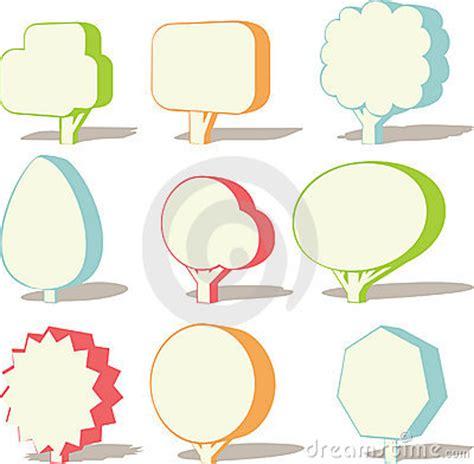 tree text 3d tree text box stock photos image 21037243