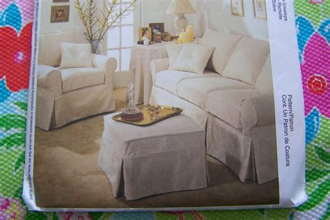ottoman slipcover pattern mccall s sewing pattern 3278 how to make sofa chair