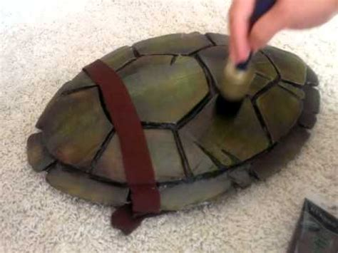 how to make a turtle out of tmnt turtle shell costume build part 2