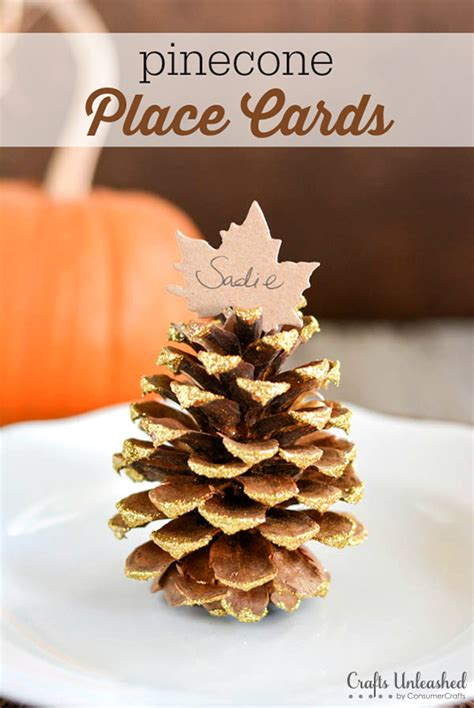 pine cone crafts to sell place card settings diy fall pinecones crafts unleashed