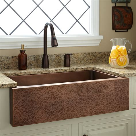 farmhouse copper kitchen sink copper farmhouse kitchen sink quicua