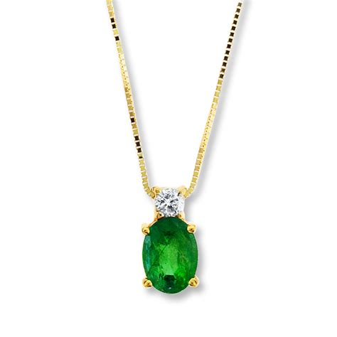 emerald necklace jared emerald necklace 1 15 ct 14k