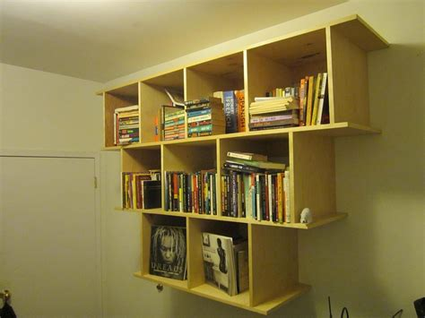 hanging wall bookshelves crafted wall hanging bookcase shelves by wooden it