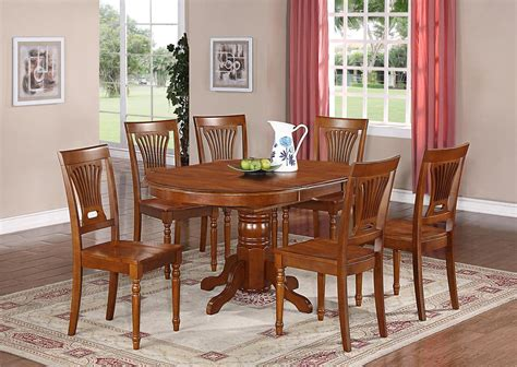 kitchen tables and benches dining sets 7 pc oval dinette kitchen dining set table w 6 wood seat