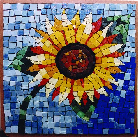 mosaic crafts for sunflower mosaic flickr photo
