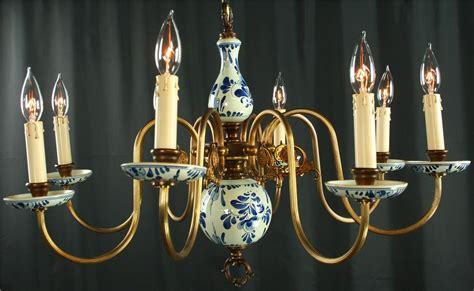 delft chandelier vintage blue delft chandelier painted blue white