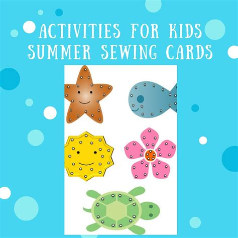 printable summer crafts for activities for printable summer sewing cards