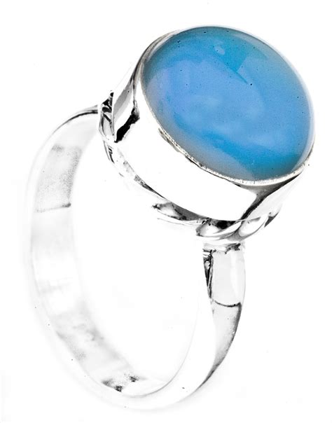 blue chalcedony blue chalcedony ring