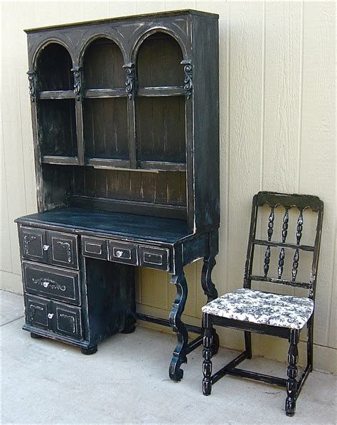 distressed desk with hutch the backyard boutique by five to nine furnishings black