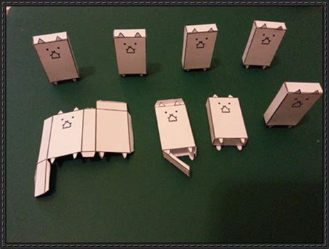 paper craft square new paper craft battle cat free paper on