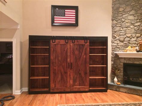 entertainment cabinets with doors entertainment cabinet with barn doors rustic family
