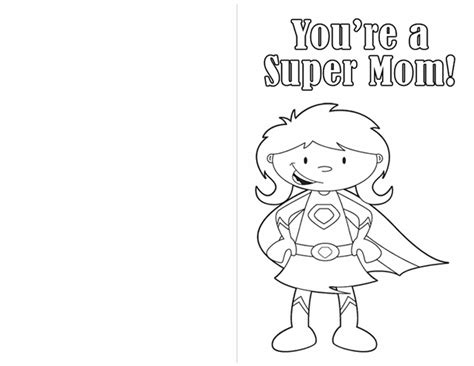 printable mothers day cards for to make s day coloring pages create a card