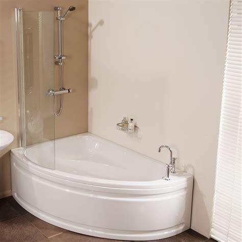 space saving shower baths vienna 1500 x 1040 offset left shower bath