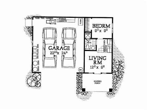 1 bedroom garage apartment floor plans garage plans with apartment one story smalltowndjs