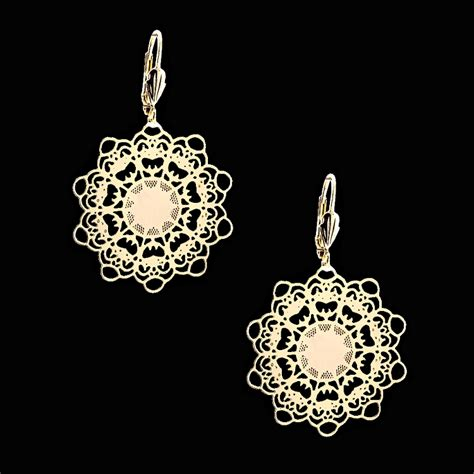 how to make filigree jewelry 18kt gold layered filigree earrings oro laminado
