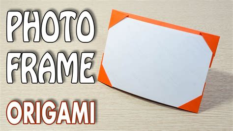 for to make origami photo frame picture frame tutorial