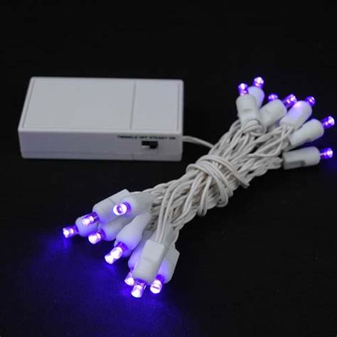 how to wire lights to a battery 20 led battery operated lights purple on white