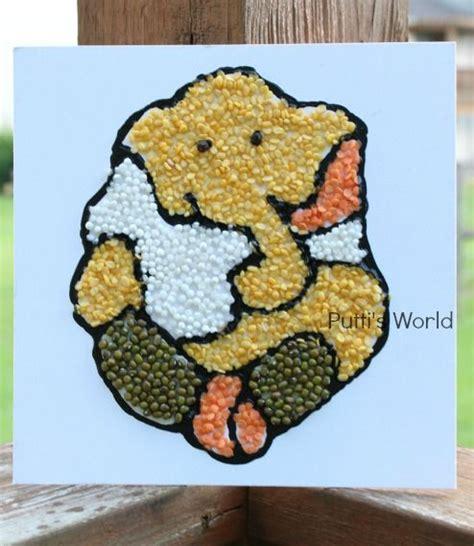 craft for for craft lentils ganesha vinayak kid s ideas and