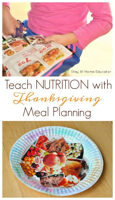 nutrition crafts for teach nutrition and scissor skills by inviting