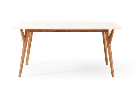 table 224 manger design vintage blanche et bois limmat