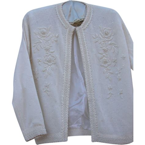 beaded cardigan vintage beaded sweater cardigan with kennedy provenance