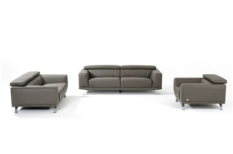 leather modern sofas divani casa brustle modern grey eco leather sofa set