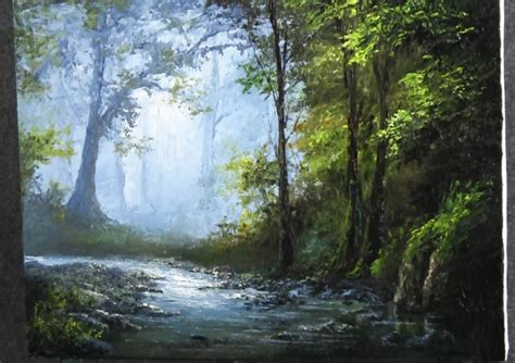 acrylic painting kevin paint with kevin hill palette knife only landscape pa