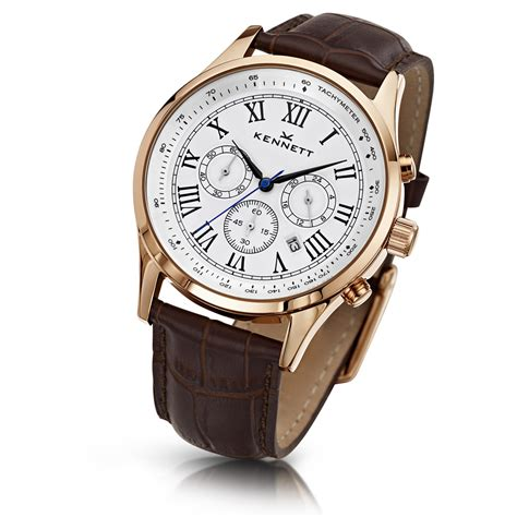 brown leather watches for gold tone savro white with brown leather s