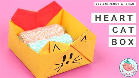 origami cat box origami cat box 187 origamitree